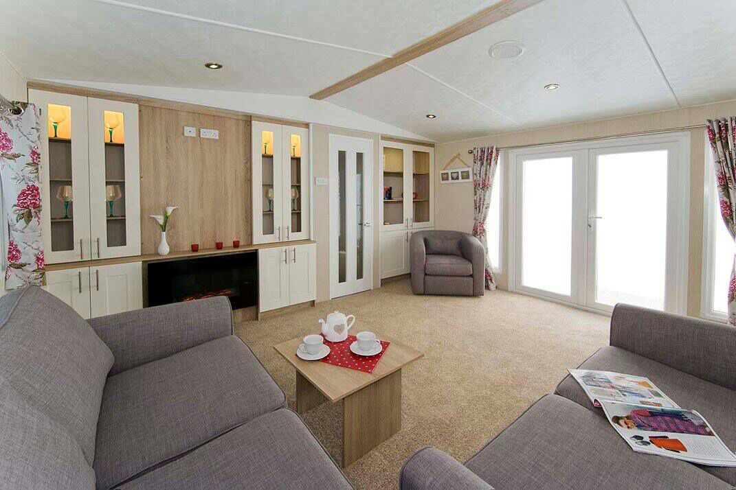 this is a static caravan repair and a park home refurbishment