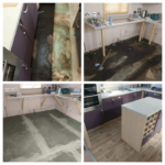 this is pictures of a Pemberton static caravan having repairs due to a flood