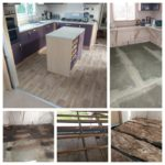 A picture of a static caravan we repaired the floor in